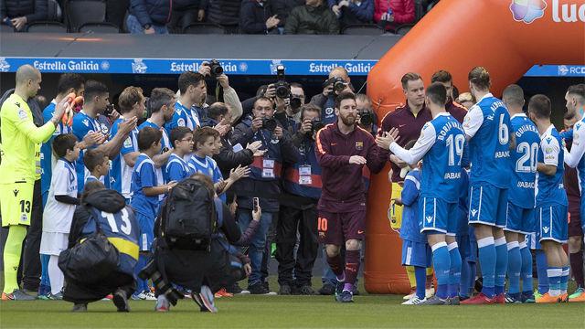 El pasillo al Barça y el posible récord