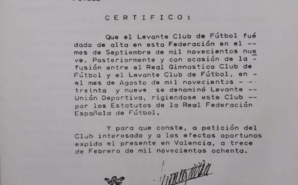 ¿Por qué el Levante UD celebra su cumpleaños el día que no es?