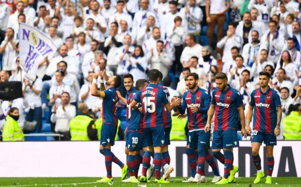 El Levante hace historia con su victoria en el Santiago Bernabéu