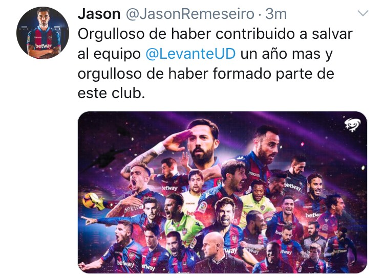 Jason se despide del Levante